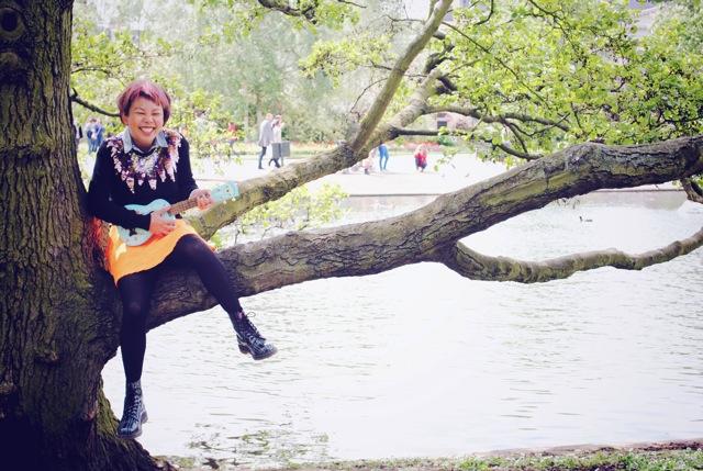 ukulele in tree
