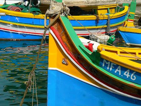 Malta pictures: traditional Maltese boats in Marsaxlokk