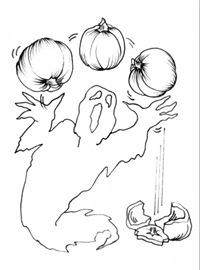 fantome de halloween-fise de colorat