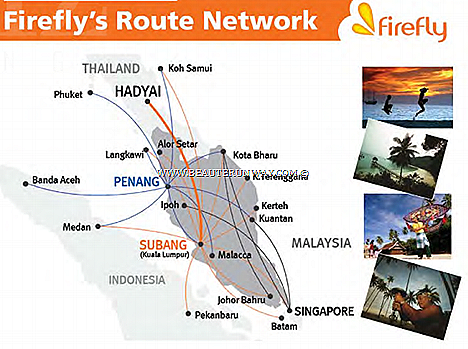 FireFly's Penang Subang Langkawi Phuket Koh Samui Hat Yai,  Indonesia-Malaysia Thailand Singapore Malacca Kota Bharu Kuantan Ipoh K Terengganu Johor Bahru Medan Batam Visit Tourism Malaysia