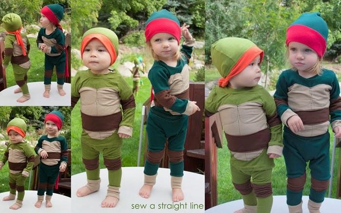 TMNT Teenage Mutant Ninja Turtles Costume sew a straight line-1a