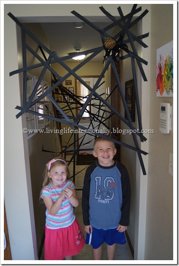 Giant Spider Web Obstacle Course for Preschoolers