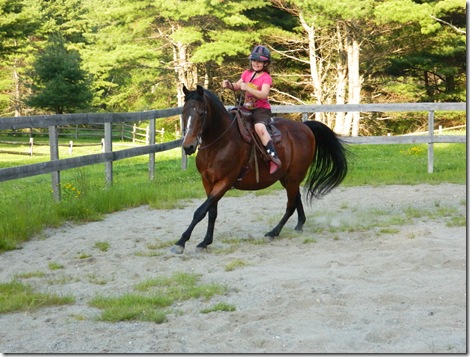 Katy and Taylor riding Lil&#39; Bud 2011 005