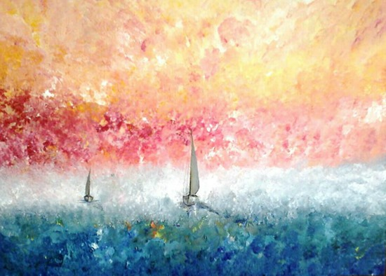 David Munroe Sailing Into the Sun