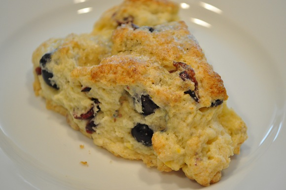 blueberry-cranberry scone