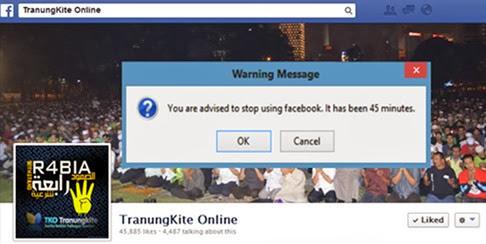 Facebook Addict Alarm