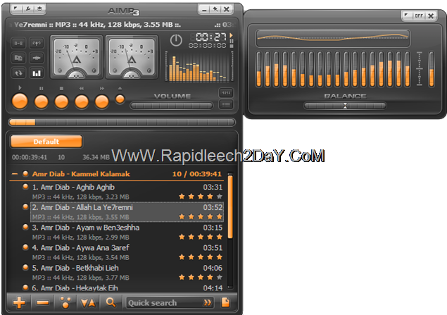Download AIMP v3.20 Build 1155 Best free Audio Player Released Final - (16.11.2012)