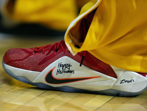 LBJ Debuts 8220HRT of a Lion8221 LeBron 12 on Halloween in OT Win Over Bulls