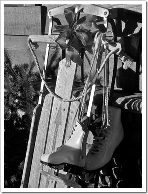 Montana Xmas sled and skates