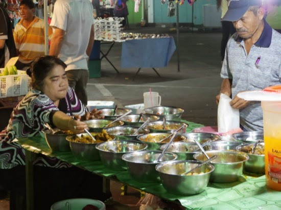 Curries and dips... Sibu Night Market