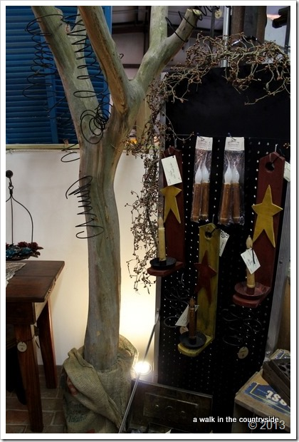 tree for display in antique booth