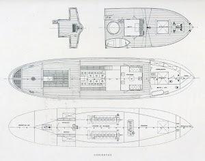 Plano de cubiertas del remolcador. Foto de la revista INGENIERIA NAVAL. Diciembre de 1930.jpg
