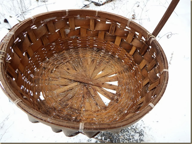 close up of basket to use for bird feeder