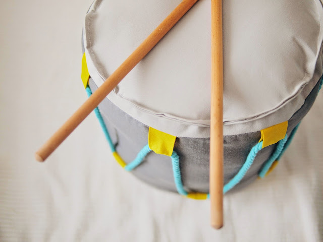 cojín tambor drum pillow