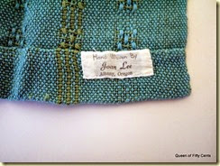 Handwoven placemats tag