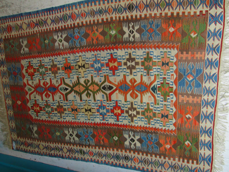 Kilim Blue and Orange Rug