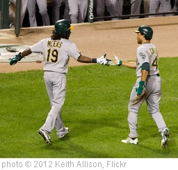 'Jemile Weeks, Coco Crisp' photo (c) 2012, Keith Allison - license: http://creativecommons.org/licenses/by-sa/2.0/