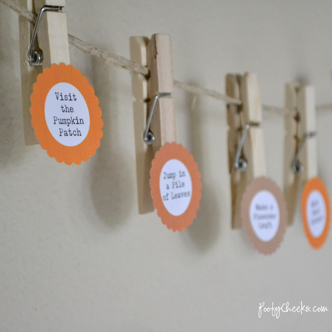 DIY Fall Bucket List and Printables by Poofy Cheeks