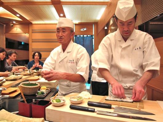 Sushi Dinner at Kyubey Tokyo