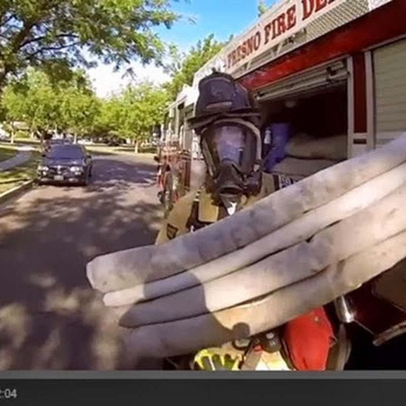 Πυροσβέστης σώζει ένα γατάκι