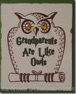 Grandparent's Day Card Closeup
