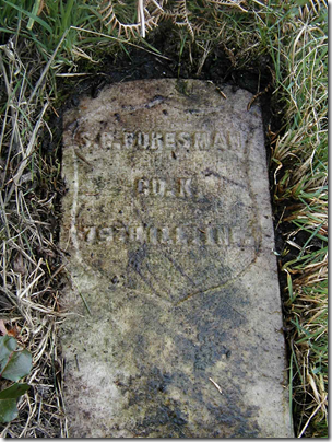Grave marker of S. C. Foresman