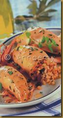 calamari di riso e uvetta