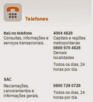 telefone-itau-www.meuscartoes.com