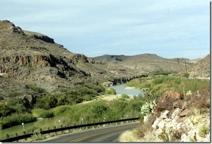 Highway 170 along the Rio Grande