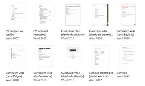 Bajar modelos de CV para Word