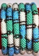 Blue rollover bracelet black stripe