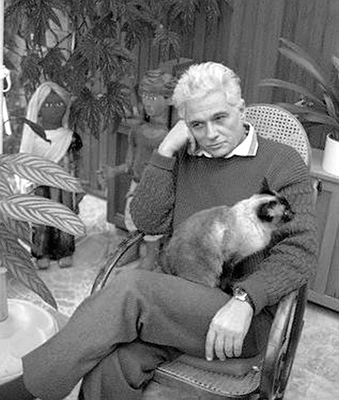 Жак Деррида с котом...