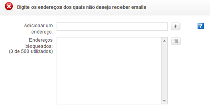 Campo para bloquear e-mail - Yahoo