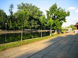 The bank of Bega river in Timisoara
