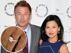 Alec Baldwin & Hilaria Thomas Engagement Ring