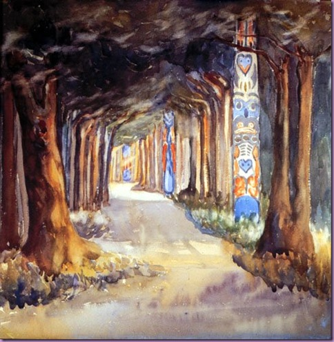totem walk at sitka emily carr