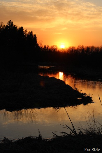 Sunset on Shell River May 7