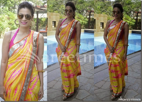 Yellow_Printed_Saree