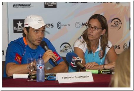 Lucia Sainz y Fernando Belasteguin en el Real Club Polo de Barcelona