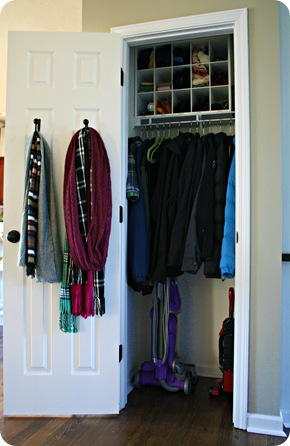 Thrifty Decor Chick: The coat closet (dun dun dunnnn)