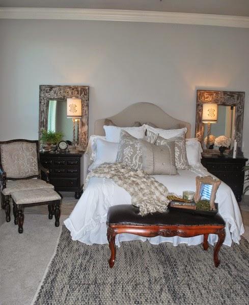 Master bedroom with vintage details