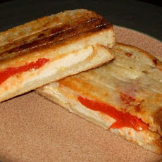 Chicken and Roasted Red Pepper Panini Style Sandwiches