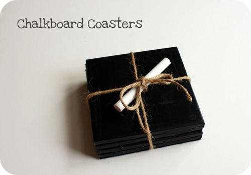 chalkboard coasters by crazy wonderful