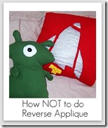 how not do reverse applique