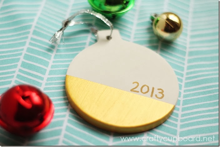 Gold Dipped Ornament Gift