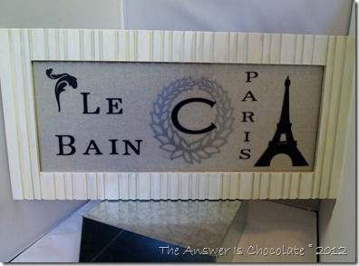 Paris Bath Sign Vinyl