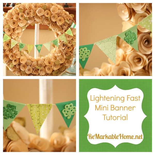 Lightening Fast Mini Banner Tutorial {ReMarkableHome.net}