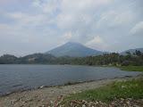 Gunung Seminung as seen from the shores of Danau Ranau at Lombuk (Dan Quinn, October 2012)