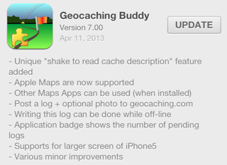Geocaching Buddy version 7.0 for iOS