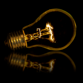 Bulb Un Wired by Fahad Iqbal - Artistic Objects Industrial Objects ( reflection, tungsten, bulb, filament, light, light bulb,  )